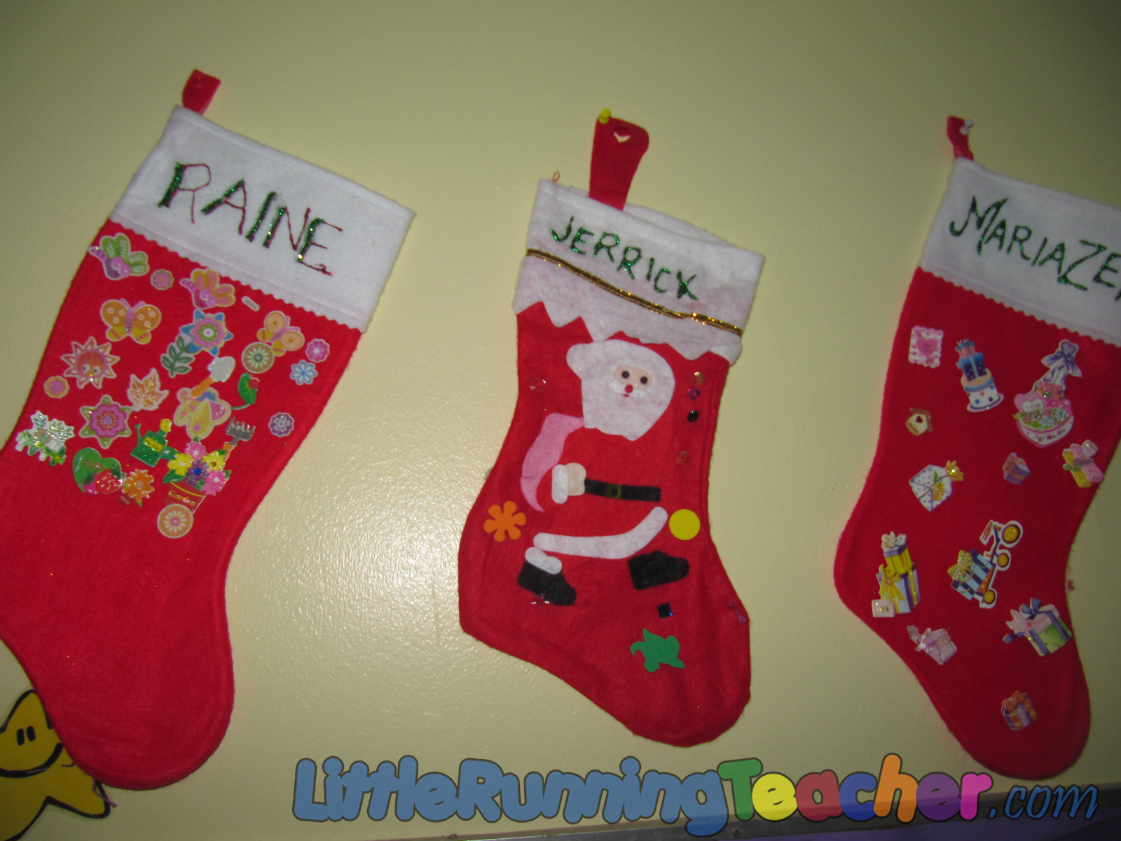 Jazzed Up Christmas Stockings Little Running Teacher