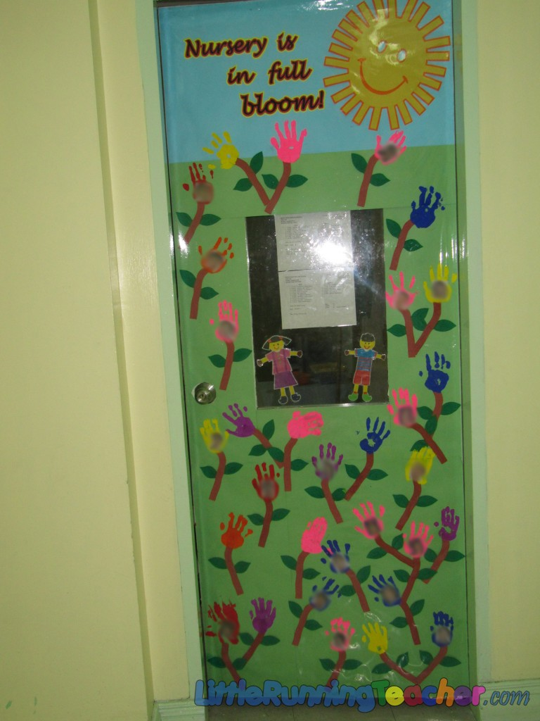 Classroom Decoration Nursery : Classroom door decor little running teacher