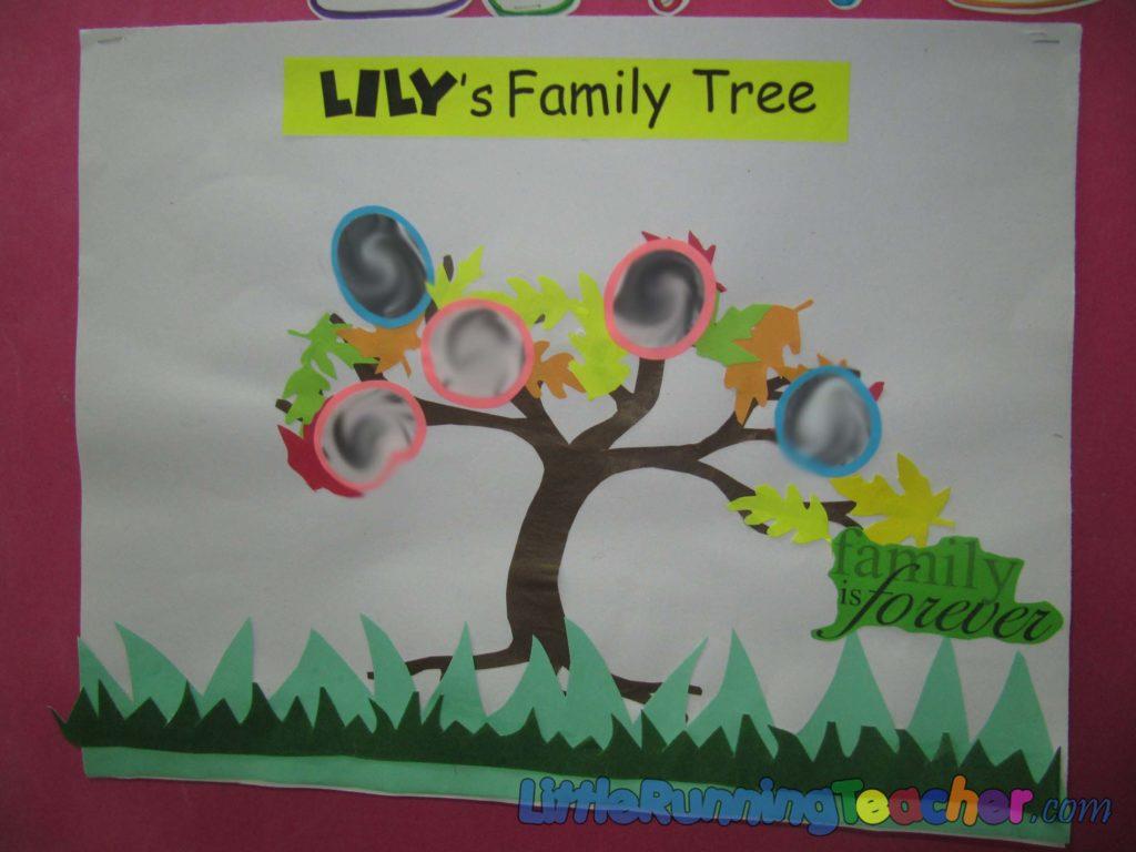 Preschool Classroom Family Tree Ideas ~ Fall family tree
