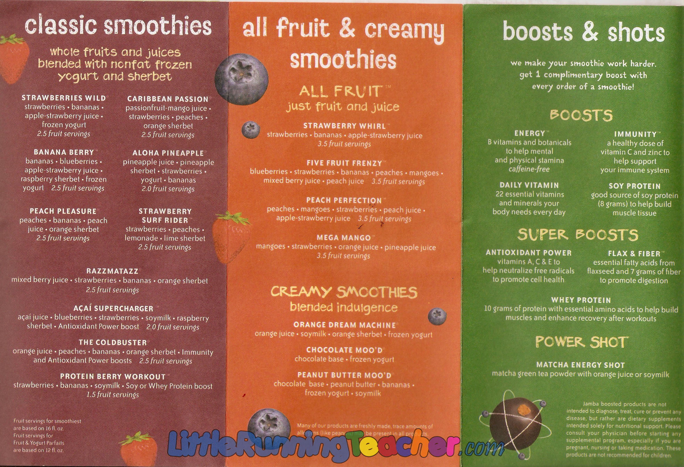 Complete menu prices for all Jamba Juice items - item pricing, meal pricing, etc.
