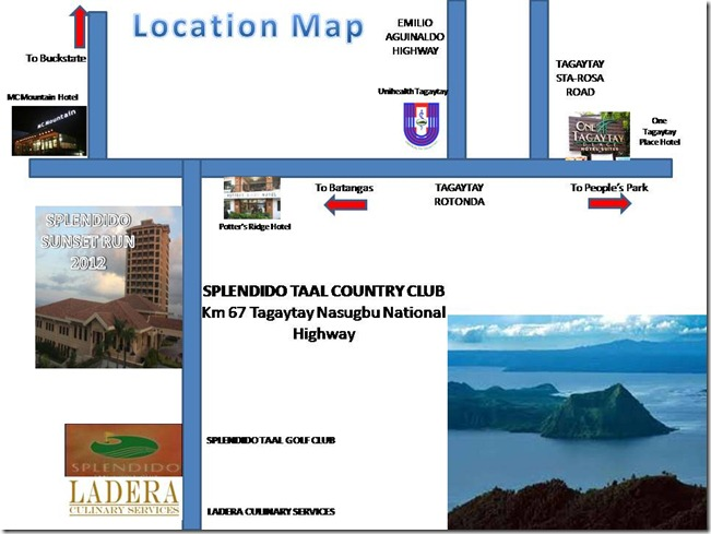 Location Map Splendido Sunset Run December 8, 2012