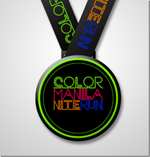 Color Manila Nite Run Medal