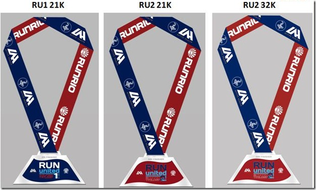 Run United 2013 Finisher's Medals