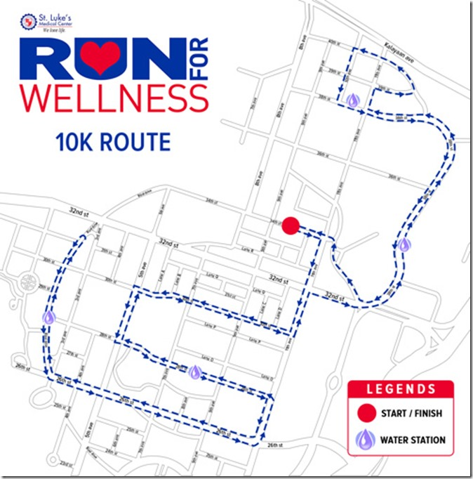 St. Lukes Run for Wellness 10k route (01)