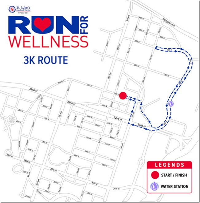 St. Lukes Run for Wellness 3k route (01)