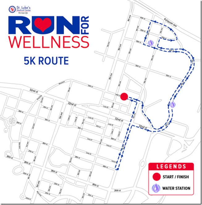 St. Lukes Run for Wellness 5k route (01)