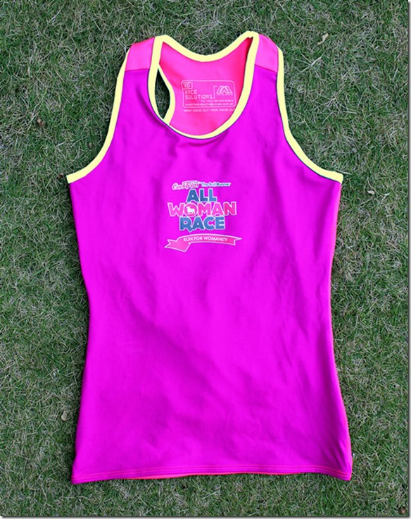 All woman Race singlet
